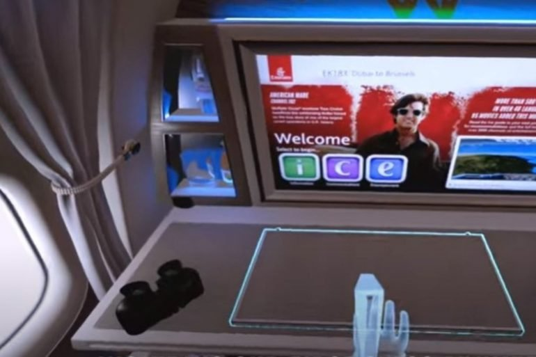 Emirates realtà virtuale oculus