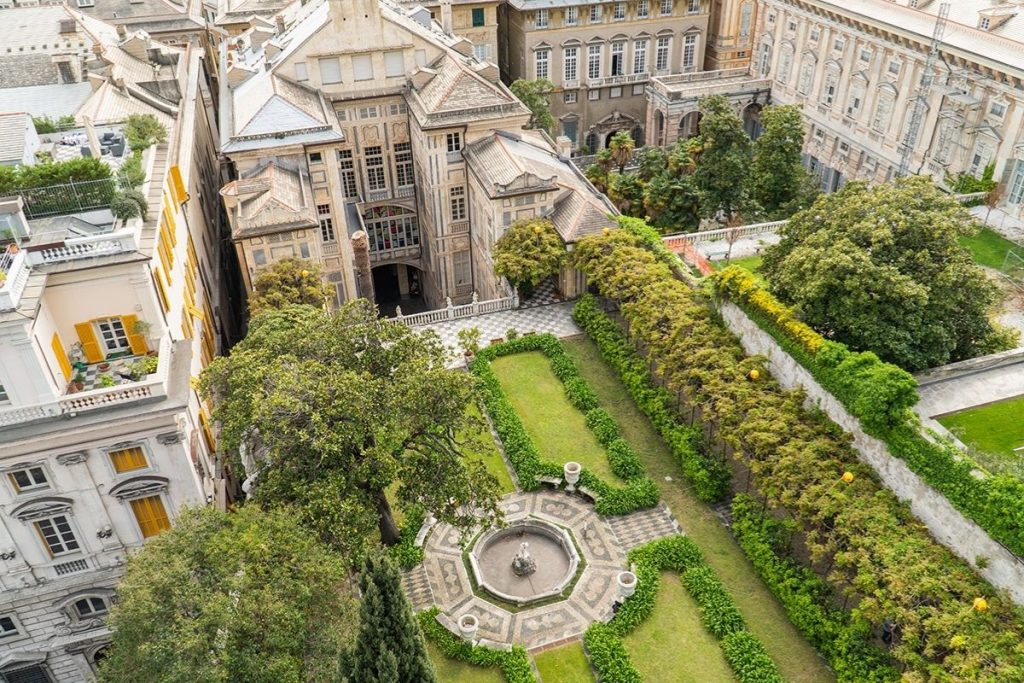 Genova Palazzo Nicolosio Lomellino - giardino- foto LZeppa